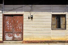 Front facade of a typical wooden house in Cuyo Island royalty free stock photo