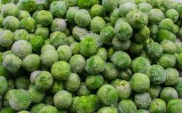 Frozen garden peas royalty free stock photography