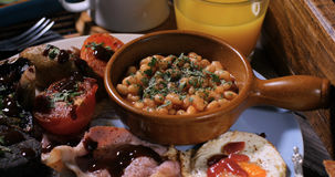 Close up view of a full English breakfast Royalty Free Stock Image