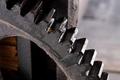 Close up view of gear Royalty Free Stock Photography