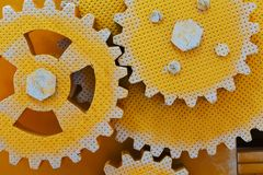 Close up view of gears Royalty Free Stock Photos