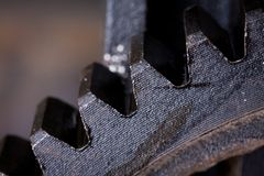Close up view of gears from old mechanism Stock Photos