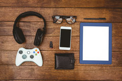 Close up view of geeks stuff Royalty Free Stock Photo