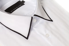 Close up view of a generic white business shirt. With a line pattern Royalty Free Stock Photography