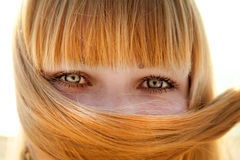 Close-up view at girl's eyes Stock Photography