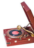 Close up view on gramophone isolated Royalty Free Stock Photography