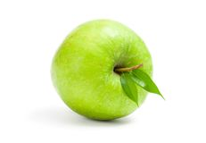Close up view of green apple Stock Images