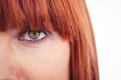 Close up view of a green eye Royalty Free Stock Image