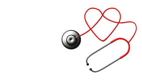 Close up view of grey stethoscope on white back Stock Photography
