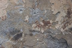 Grey weathered wall. Close-up view of grey weathered wall textured background Stock Images