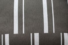 Close up view of grey, white striped fabric background. Modern graphic Royalty Free Stock Photo