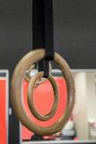Close up view of gymnastic rings Royalty Free Stock Photos