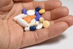 Medical pills and capsules stock photography