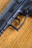 Close up view of handgun Royalty Free Stock Photo