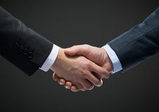 Close up view of handshake Stock Image
