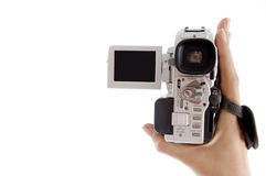 Close up view of handy cam Royalty Free Stock Photography