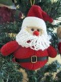 Hanging Santa Claus plush Royalty Free Stock Photo