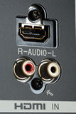 Close up view of the HDMI panel Royalty Free Stock Image