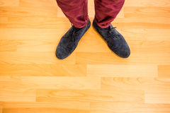Close up view of hipster shoes Royalty Free Stock Photography