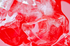 Close up view of the ice in soft drink background Royalty Free Stock Photo