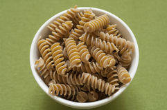 Close-up view of Italian organic Fusilli Royalty Free Stock Images