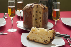 Close-up view of Italian Panettone Royalty Free Stock Image