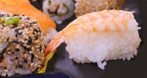 Close up view of Japanese food: prawn sushi Royalty Free Stock Image