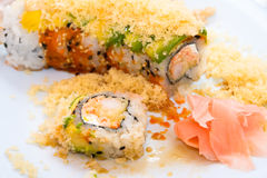 Shrimp tempura roll Royalty Free Stock Photos