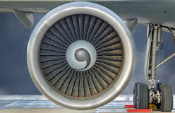 Close-up view of a Jet engine turbine Royalty Free Stock Image