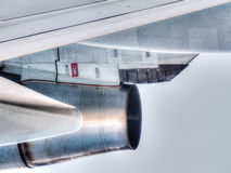 Close up view of a jet plane engine Stock Image