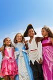 Close up view of kids in different costumes Royalty Free Stock Photos