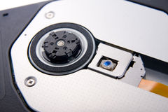A close up view of a laptop DVD-ROM Stock Photography