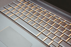 Close up view of a laptop Royalty Free Stock Images