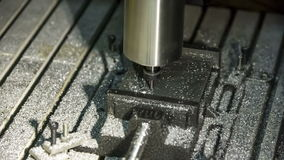Close-up view: Lathe Processing Aluminium. Stock Photos