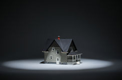 Close up view of lighten model house Stock Photo