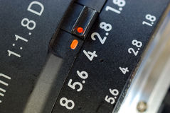 Close up view of a macro lens Royalty Free Stock Photography