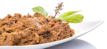 Close Up View Of Malay Beef Rendang Dish III Stock Photography