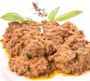Close Up View Of Malay Beef Rendang Dish IV Royalty Free Stock Photo