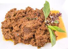 Close Up View Of Malay Beef Rendang Dish VI Stock Photography