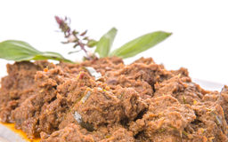 Close Up View Of Malay Beef Rendang Dish VII Royalty Free Stock Image