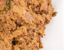 Close Up View Of Malay Beef Rendang Dish VIII Royalty Free Stock Photography