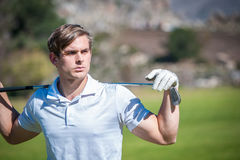 Close up view of a male golfer Stock Photos
