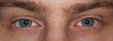 Close-up view of a man�s eye Royalty Free Stock Photos