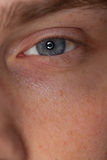 Close-up view of a man�s eye Stock Photography