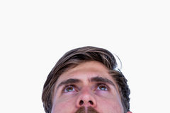 Close up view of man looking up Royalty Free Stock Images