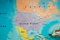 United States map. A close up view of a map of USA Royalty Free Stock Photography