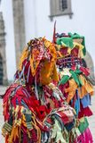 Make. Close up view of masked man in a Carnival parade Stock Photo