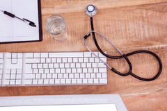 Close up view of medical desk Stock Photos