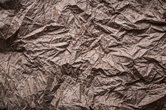 Close up view of messy crumpled paper Royalty Free Stock Image