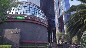 Close up view of the Mexican Stock Exchange. stock video